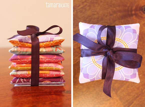 tamara kate ... hand warmers with ribbon