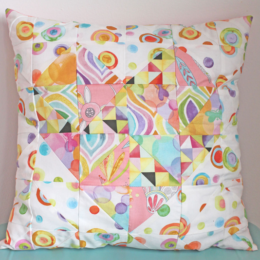flight patterns pillow crop