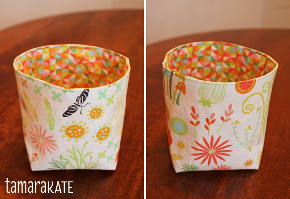 helen's garden fabric bucket enchanted