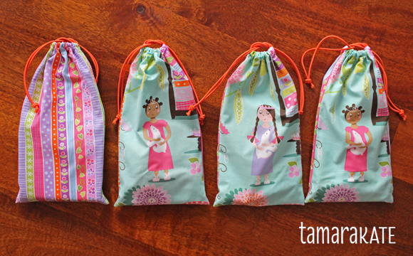 princess & the pea fabric loot bags 4