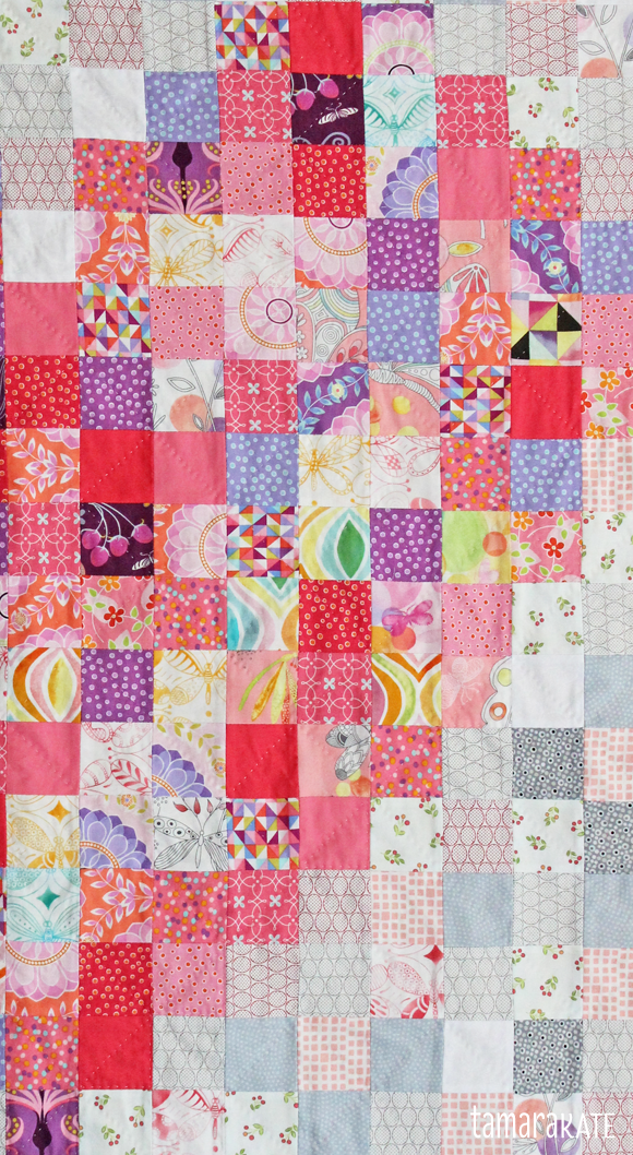 tamara kate - heart baby quilt detail
