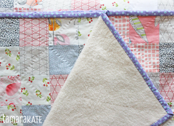 tamara kate - heart baby quilt fleece back2