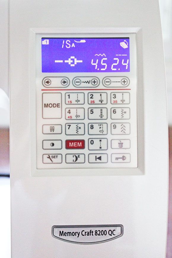 janome control panel