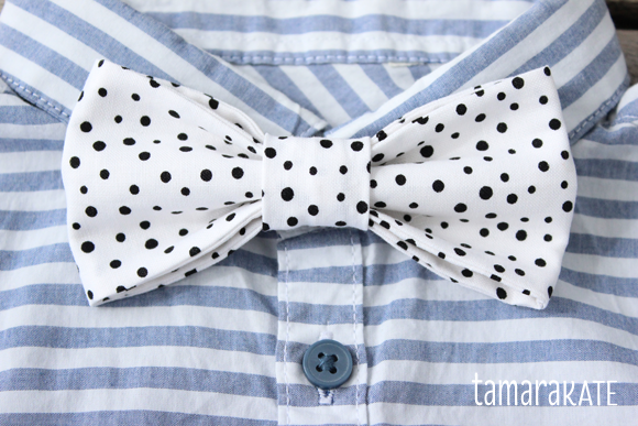 tamara kate freckled bow tie
