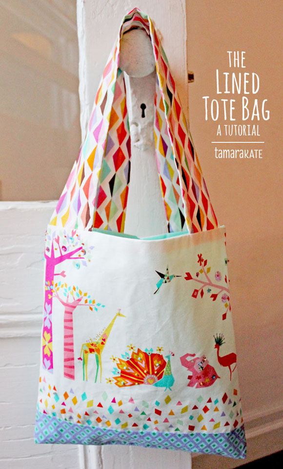 tamara kate lined tote bag - origami oasis
