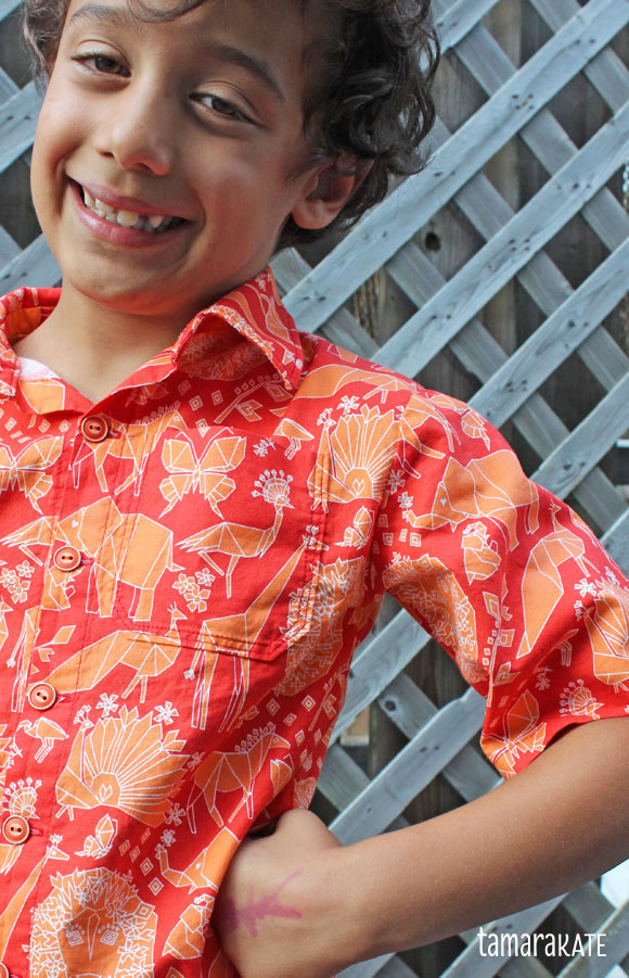 tamara kate - fold shirt - origami oasis