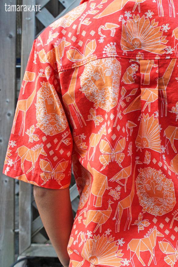 tamara kate - fold shirt - origami oasis2