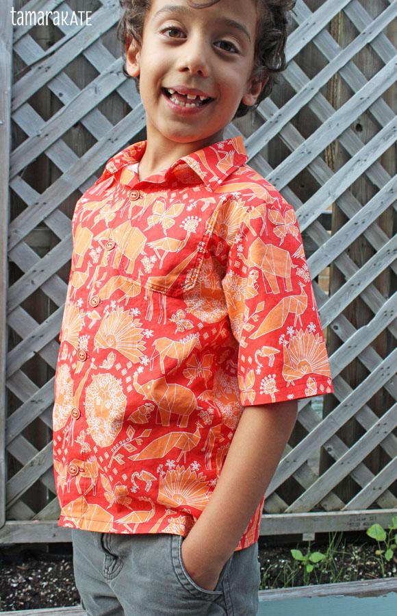 tamara kate - fold shirt - origami oasis3