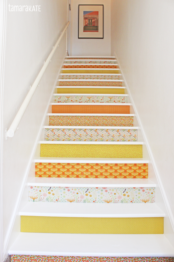 tamara kate - stairs with fabric risers