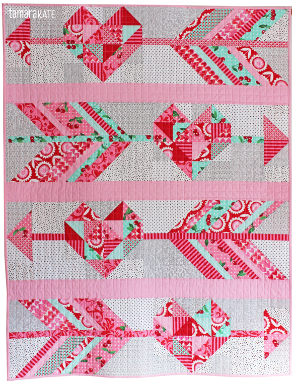 cupid's arrow quilt