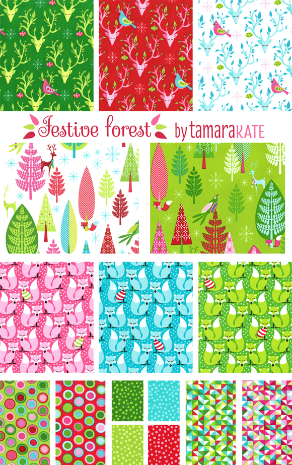 festive forest swatches