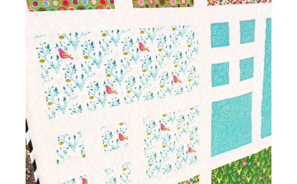 Isabelle Jean Festive Forest Quilt detail2