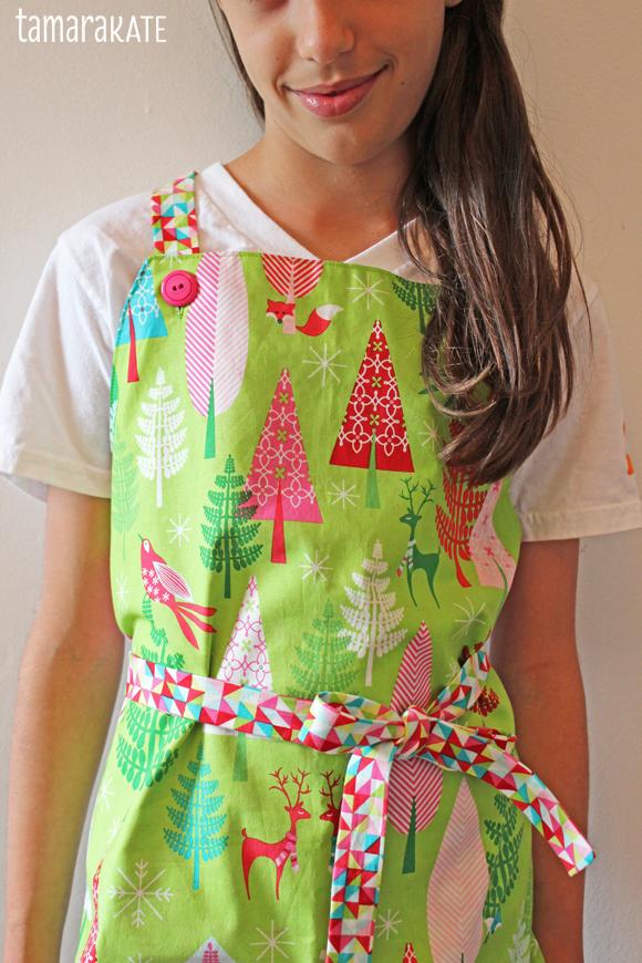 festive forest apron - tamara kate