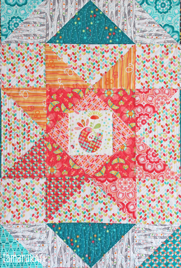 flight medallion quilt detail - tamara kate