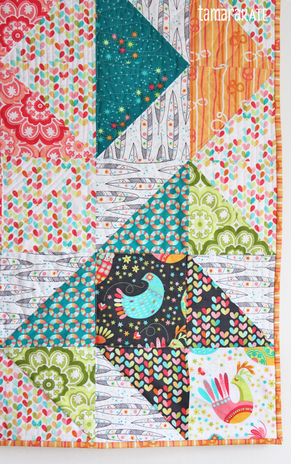 flight medallion quilt detail2 - tamara kate