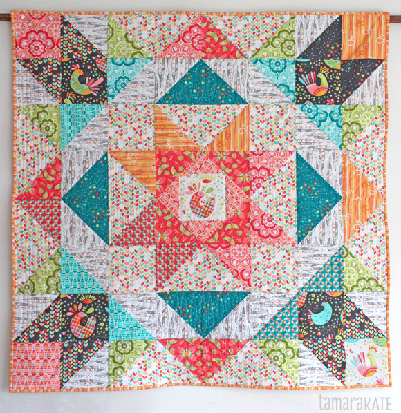 flight medallion quilt - tamara kate