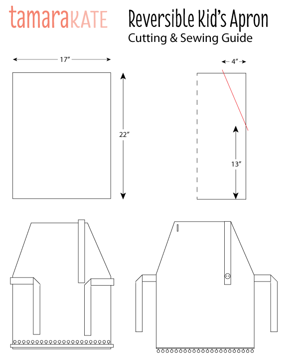 reversible apron cutting & sewing