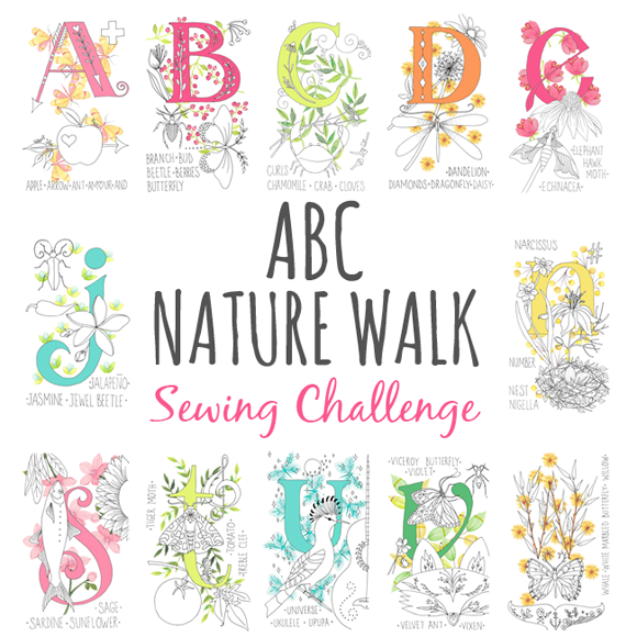 abc nature walk sewing challenge