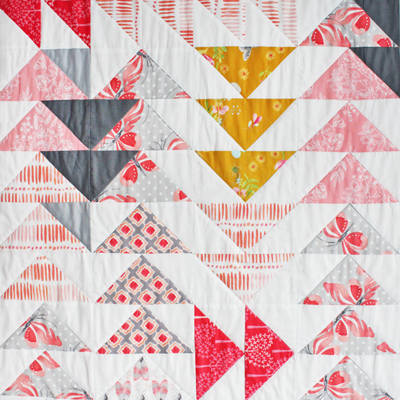 off the beaten track quilt detail - tamara kate