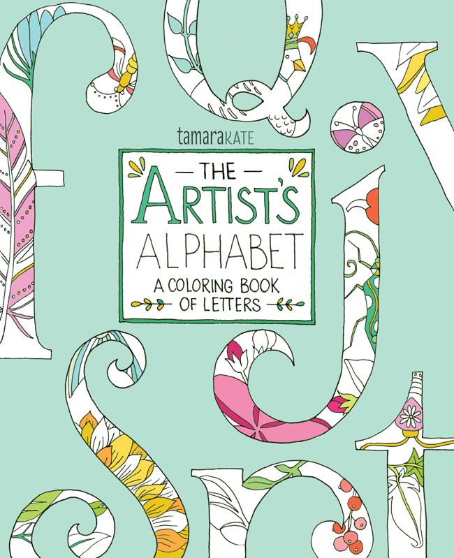 artist's alphabet colouring book - tamara kate